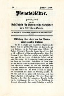 Monatsblätter Jhrg. 23, H. 1 (1909)