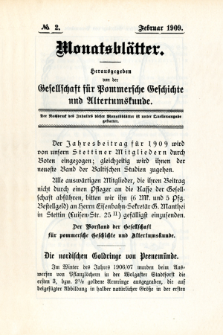 Monatsblätter Jhrg. 23, H. 2 (1909)