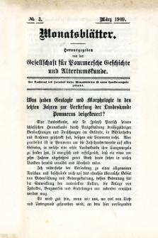 Monatsblätter Jhrg. 23, H. 3 (1909)