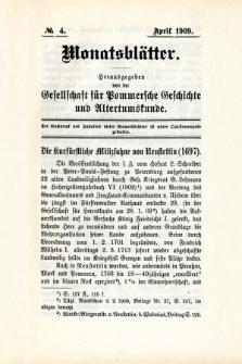 Monatsblätter Jhrg. 23, H. 4 (1909)