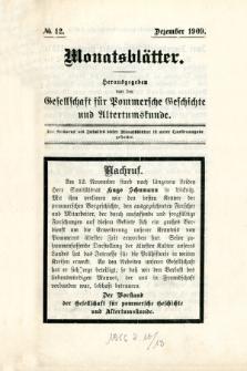 Monatsblätter Jhrg. 23, H. 12 (1909)