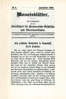 Monatsblätter Jhrg. 23, H. 9 (1909)