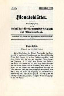 Monatsblätter Jhrg. 23, H. 11 (1909)