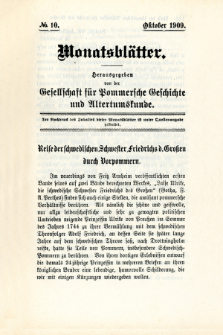 Monatsblätter Jhrg. 23, H. 10 (1909)