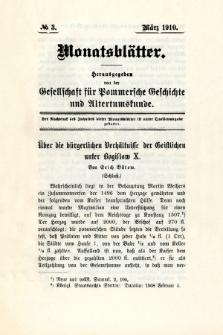 Monatsblätter Jhrg. 24, H. 3 (1910)