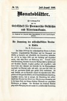 Monatsblätter Jhrg. 23, H. 7/8 (1909)