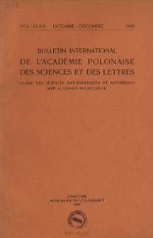 Bulletin International de L'Académie Polonaise des Sciences et des Lettres. Classe des Sciences Mathématiques et Naturelles. Serie B: Sciences Naturelles (II), 1932, No 8-10