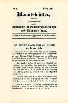 Monatsblätter Jhrg. 25, H. 4 (1911)