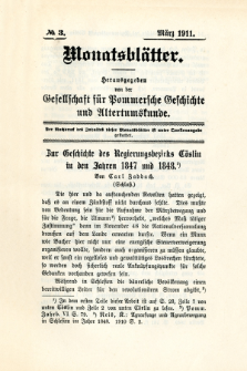 Monatsblätter Jhrg. 25, H. 3 (1911)