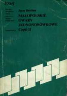 Małopolskie gwary jednonosówkowe. Cz. 2.