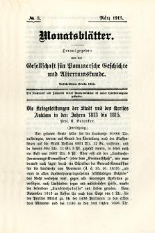 Monatsblätter Jhrg. 27, H. 3 (1913)