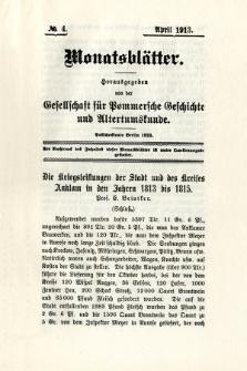 Monatsblätter Jhrg. 27, H. 4 (1913)