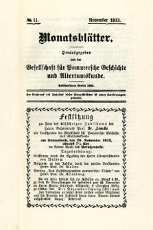 Monatsblätter Jhrg. 27, H. 11 (1913)