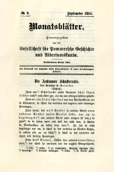 Monatsblätter Jhrg. 28, H. 9 (1914)
