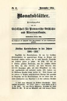 Monatsblätter Jhrg. 28, H. 11 (1914)