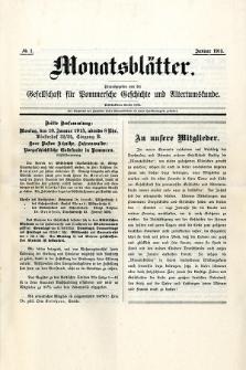 Monatsblätter Jhrg. 29, H. 1 (1915)