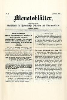 Monatsblätter Jhrg. 29, H. 2 (1915)