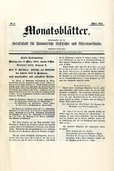 Monatsblätter Jhrg. 29, H. 3 (1915)