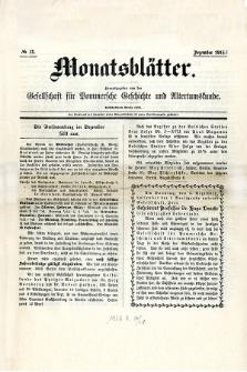 Monatsblätter Jhrg. 29, H. 12 (1915)