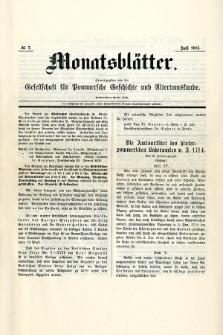Monatsblätter Jhrg. 29, H. 7 (1915)