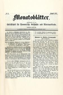 Monatsblätter Jhrg. 29, H. 8 (1915)