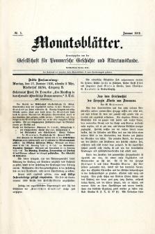 Monatsblätter Jhrg. 30, H. 1 (1916)