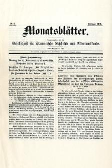 Monatsblätter Jhrg. 30, H. 2 (1916)