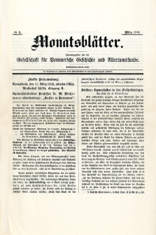 Monatsblätter Jhrg. 30, H. 3 (1916)