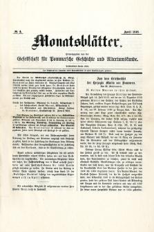 Monatsblätter Jhrg. 30, H. 4 (1916)
