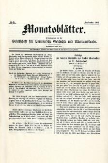 Monatsblätter Jhrg. 30, H. 9 (1916)
