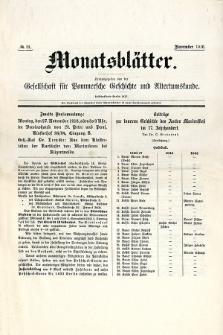 Monatsblätter Jhrg. 30, H. 11 (1916)