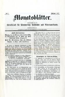 Monatsblätter Jhrg. 31, H. 2 (1917)