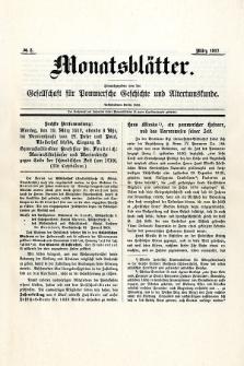 Monatsblätter Jhrg. 31, H. 3 (1917)