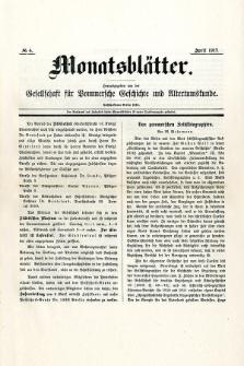 Monatsblätter Jhrg. 31, H. 4 (1917)