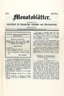 Monatsblätter Jhrg. 31, H. 6 (1917)