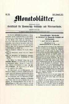 Monatsblätter Jhrg. 31, H. 7/8 (1917)
