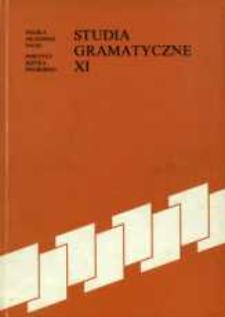 Studia Gramatyczne 11