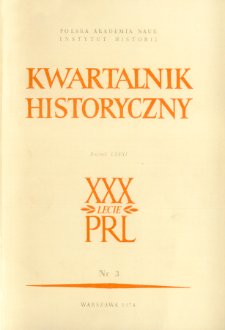 Kwartalnik Historyczny R. 81 nr 3 (1974), Title pages, Contents