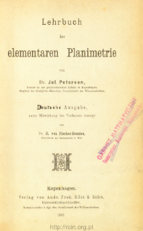 Lehrbuch der elementaren Planimetrie