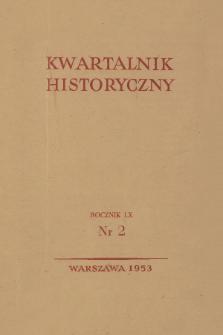 Kwartalnik Historyczny R. 60 nr 2 (1953), Recenzje i sprawozdania