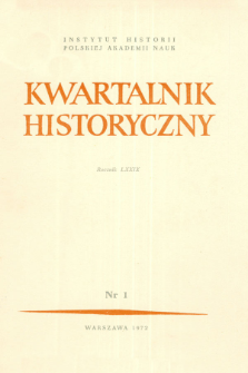 Kwartalnik Historyczny R. 79 nr 1 (1972), Title pages, Contents