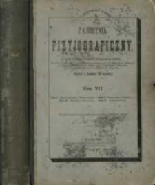 Pamiętnik Fizyjograficzny T. 7 (1887)