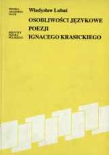 Osobliwości językowe poezji Ignacego Krasickiego