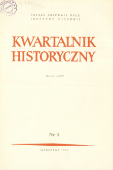 Kwartalnik Historyczny R. 80 nr 2 (1973), Listy do redakcji