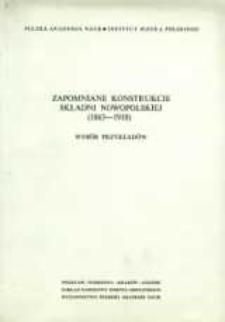 Zapomniane konstrukcje składni nowopolskiej (1863-1918) : wybór przykładów