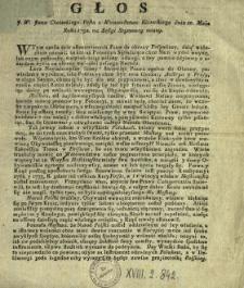 Głos J.W. Jana Choieckiego Posła z Woiewodztwa Kiiowskiego dnia 10. Maia Roku 1792. na Sessyi Seymowey miany
