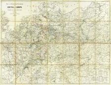 Post- und Eisenbahn-Reisenkarte von Central-Europa nach F. Handtke's Post- und Reise-Karte