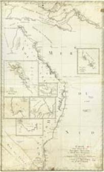 Carte D'Une Partie De La Nouvelle Hollande, de L'Isle Des Arsacides découverte par Mrs. De Bougainville De Surville et Shortland; et de quelques autres Côtes De La Mer Du Sud