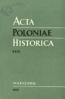 Acta Poloniae Historica. T. 31 (1975), Title pages, Contents