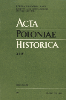 Acta Poloniae Historica. T. 44 (1981), Vie scientifique